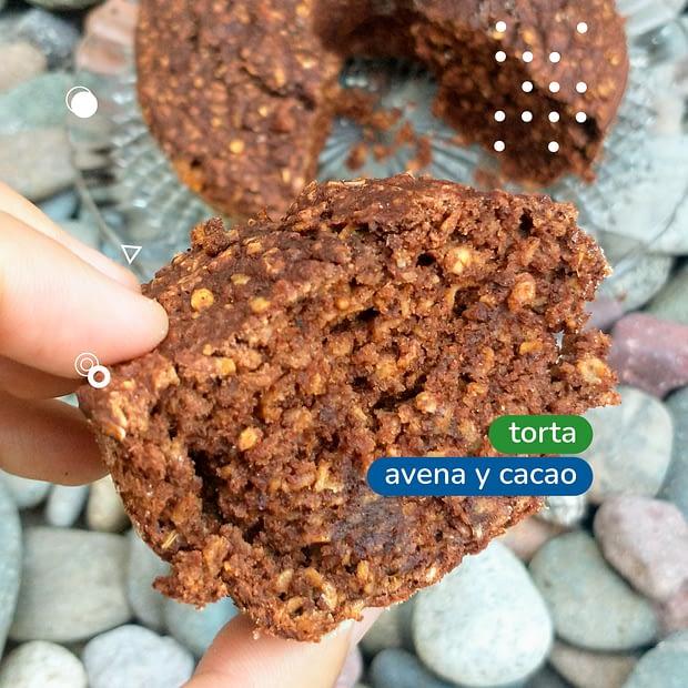 torta de avena y cacao rapida y super saludable